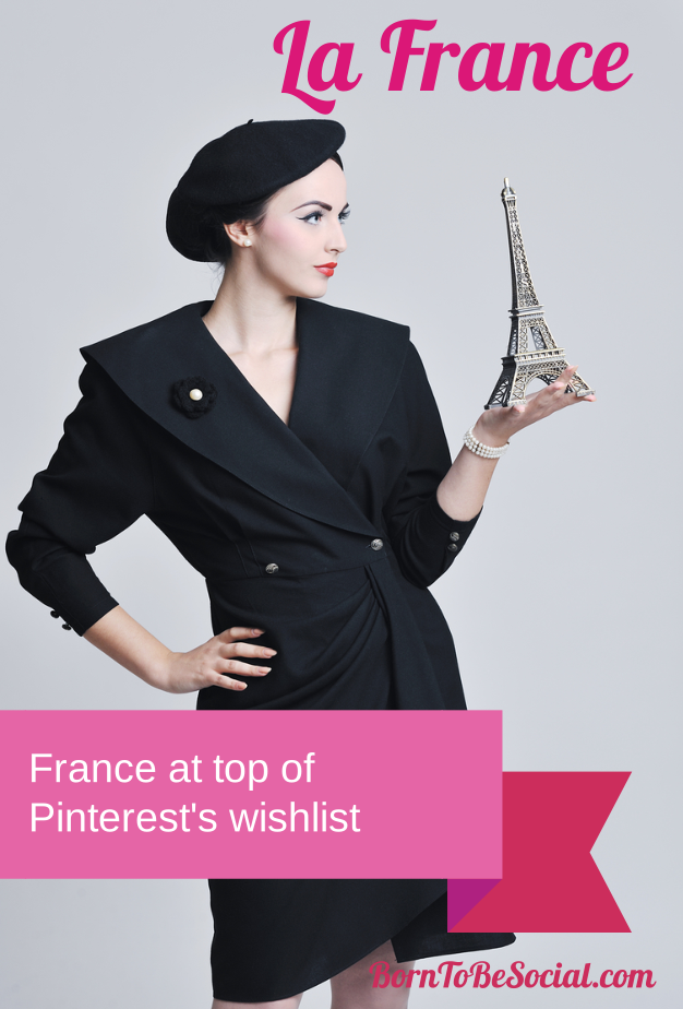France at top of Pinterest wishlist | via #BornToBeSocial